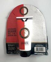 Feyenoord Beanie  Hair And Body Douchegel Heren - Rood/Wit/Zwart - Maat S