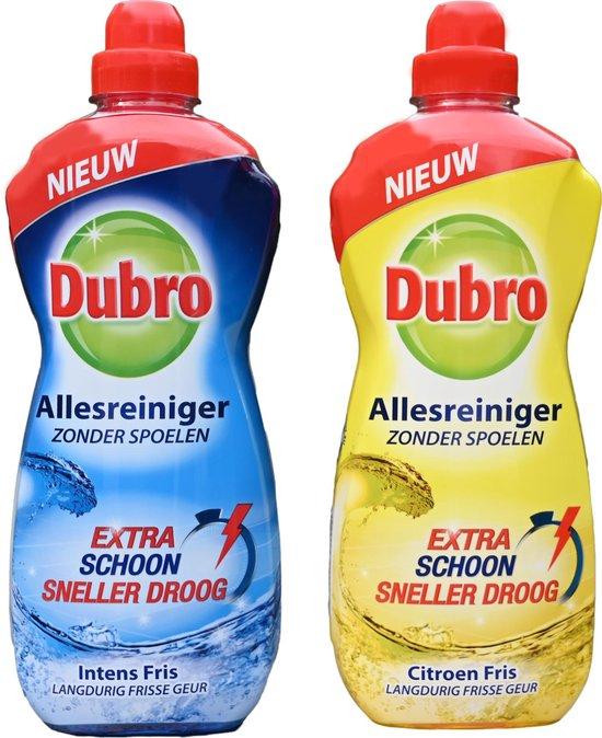 Dubro allesreiniger extra schoon sneller droog intens fris en Citroen fris - 2x 1000ml langdurig frisse geur