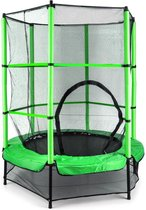 Rocketkid trampoline 140cm veiligheidsnet binnen, bungeevering, blauw