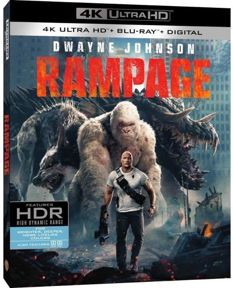 Rampage - Hors de contrôle - Combo 4K UHD + Blu-Ray-