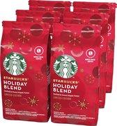 Starbucks® Holiday Blend Whole Bean Koffie - 6 potten à 200 gram