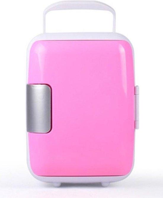 Koelkast: Skincare Fridge voor Beauty en Cosmetica Producten – Mini koelkast -Mini Make-up Koelkast met Handvat – Compact – 4 Liter - auto koelkast - roze, van het merk Merkloos