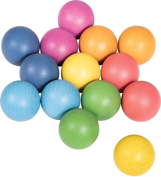Afbeelding van het spel TickiT Gekleurde houten ballen