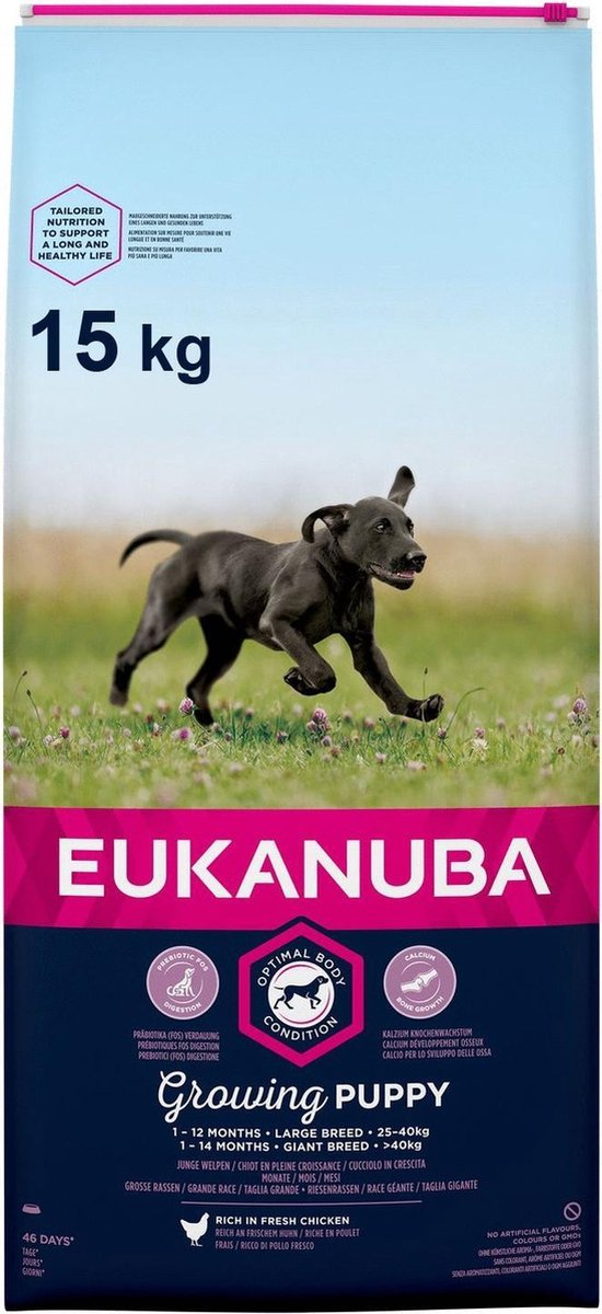 Eukanuba Dog Puppy Large Breed - Kip - Puppyvoer - 15 kg