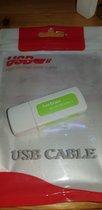 USB Card reader voor 7 kaarten 2.0