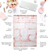 Chick Story - Planner - Deskplanner - Bureauplanner - Weekplanner - Dagplanner - Project Planner - Doelen planner - Kladblok - Schrijfblok - Stationery - Stationary - Notepad - A4 - Roze Marmer