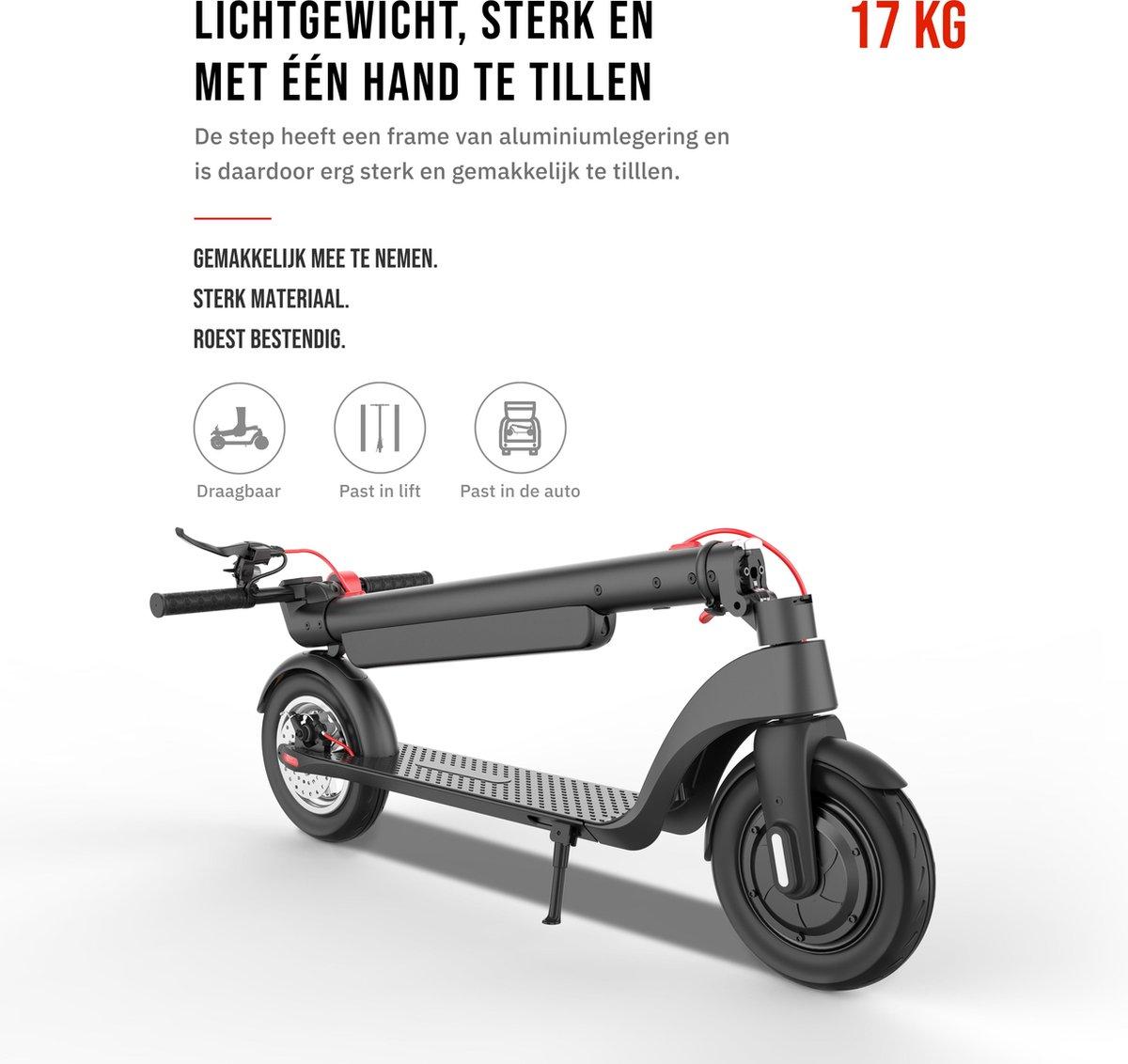 Doogo X8 Elektrische Step - E-Scooter - Voor Volwassenen - Afneembare batterij - 10 Inch Schokbestendige Wielen - Cruise Control