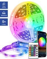 Smart LED Strip - LED light strip 5 meter - Bestuurbaar met App - Verbinding via WiFi - Waterproof en bedienbaar met afstandbediening