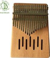 Bambae Kalimba Set - Mahoniehouten Duimpiano - Vinger Instrument- Muziekinstrument - Percussie - Complete set met hoes, stemhamer, stickers en doekje
