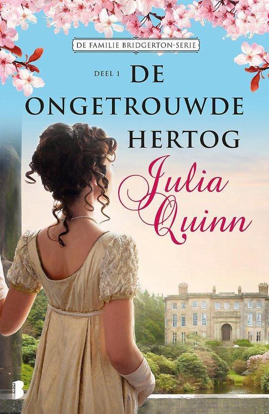 Boek cover Familie Bridgerton 1 -   De ongetrouwde hertog van Julia Quinn (Paperback)