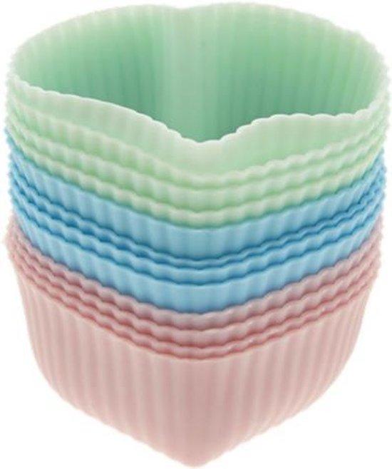 La Cucina cupecakevormpjes hart - 12 stuks