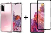 Samsung galaxy S20 FE hoesje shock proof case transparant hoesjes cover hoes - Full cover - 1x samsung s20 fe screenprotector