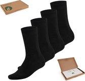 Bambocks Bamboe Sokken 4 paar - Zwart - Maat 43-46