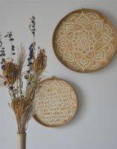 Bamboe wanddecoratie - HAND MADE - White - BALI. Lifestyle