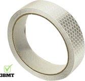 3BMT - Reflecterende tape  - 25 mm x 5 meter - zilver / wit