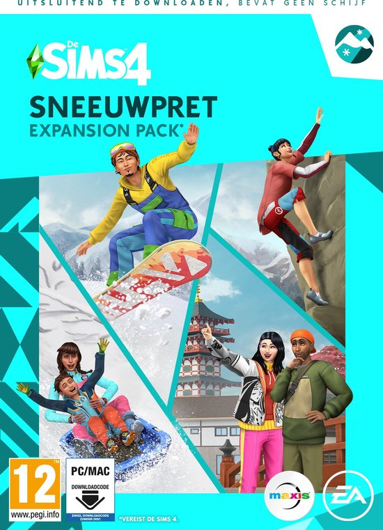 Bol Com De Sims 4 Sneeuwpret Expansion Pack Windows Mac Code In A Box Games
