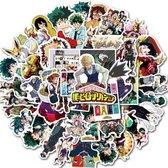 My Hero Academia - 50 stickers - My Hero Academia Manga - Anime stickers - My Hero Academia knuffel - Stickers volwassenen - Stickers kinderen - Laptop stickers