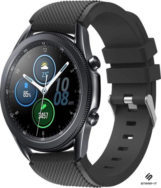 Strap-it® Samsung Galaxy Watch 3 45mm siliconen bandje - zwart