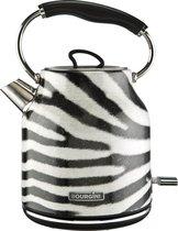 Bourgini Zebra Waterkoker - Zebraprint - 1.7L - design - retro