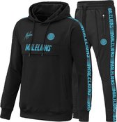 Malelions Sport Tracksuit Warming Up - Black/Blue - M