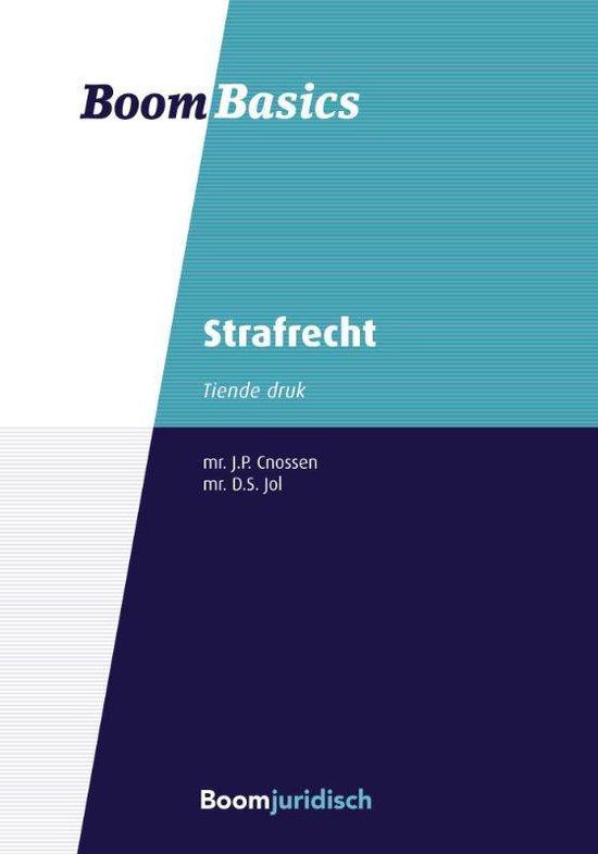 Boek cover Boom Basics  -   Strafrecht van Jelle Cnossen (Paperback)
