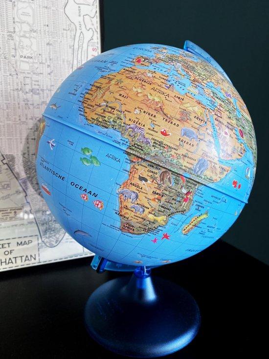 Wereldbol - Globe met verlichting - 25 cm