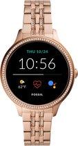 Fossil Gen 5E FTW6073 Dames Smartwatch - 42 mm - Roségoud