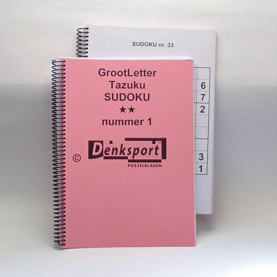 Afbeelding van Denksport Groot letter Sudoku puzzles. Moeilijkheidsgraad: 2-sterren