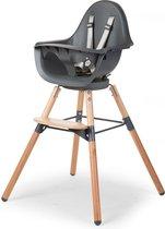 Evolu One.80° Kinderstoel - Verstelbaar In Hoogte (50-75 Cm/*90 Cm) - Naturel Antraciet
