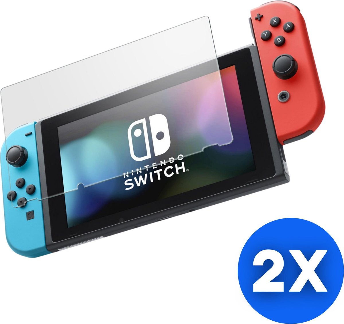 Screen Protector Tempered Glass 2 Pack (9H Gehard Glas) - Nintendo Switch