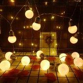 Licht snoer lichtslinger - 20 led lampen op batterij - 3 meter - warm wit - feestverlichting - sfeer lampjes