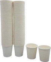 Kartonnen bekers 200ml - 50 stuks - koffie bekers - wegwerp papieren bekers - drank bekers - milieuvriendelijk