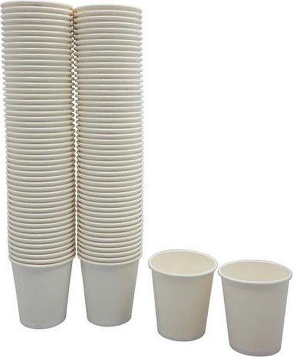Kartonnen bekers 200ml - 50 stuks - koffie bekers - wegwerp papieren bekers - drank bekers - milieuv
