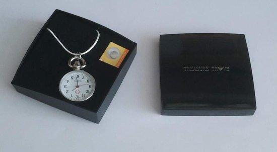 Stijlvol Ketting Horloge Groot Klokje - Dames - Zilverkleurig - 62 cm