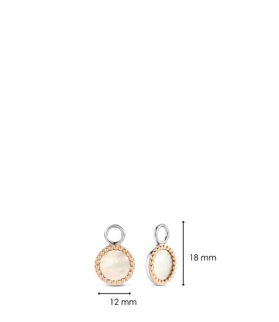 TI SENTO - Milano Oorbedels 925 Sterling Zilver Ear Charms 9227 Wit