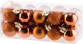Kerstballen set 20 stuks - Kerstversiering - Mix kaneel - ø3cm - Kunststof