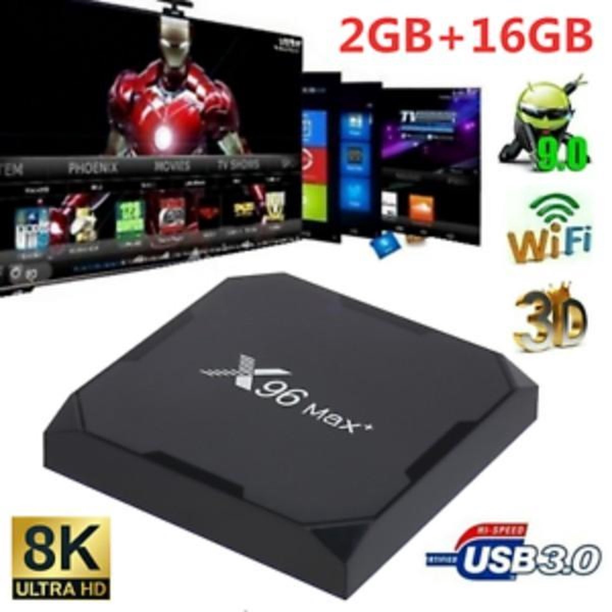 X96 Max+ Android TV Box | 2/16GB | S905X3 | Android 9.0