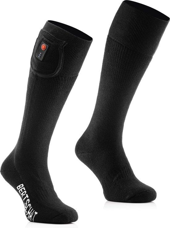 BERTSCHAT® | Verwarmde sokken met oplaadbare accu | Maat: 42-44 | Unisex | Zwart