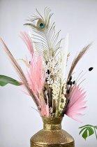Droogbloemen   Boeket Black & Pink Dried Flowers 80 cm    Gedroogde bloemen