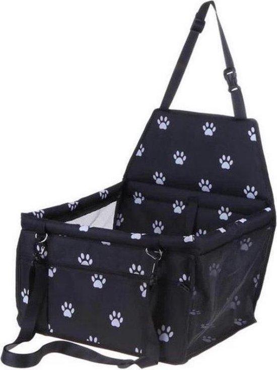 NRJ Lifestyle Opvouwbare autostoel hond - Luxe autozitje - Hondenzitje - Auto bench hond - Honden autostoel - Puppyzitje - Hondendeken auto achterbank - Hondenmand - Hondenkleed - Zwart wit