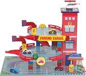 Afbeelding van Mentari Houten Garage Rood speelgoed