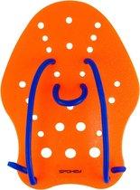 Zwem Hand Paddle Maat M Oranje / Blauw