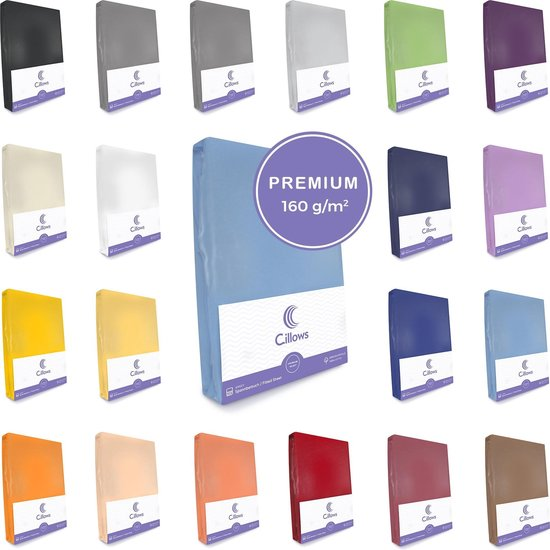 Cillows Premium Jersey Hoeslaken voor Matras