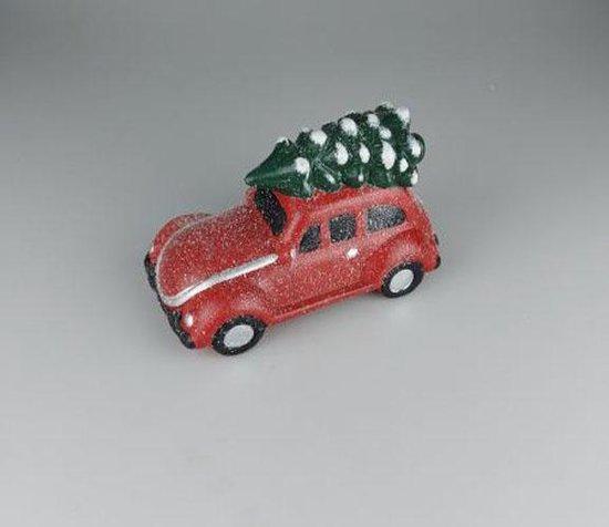 Bol Com Kerst Auto Met Kerstboom Rood Keramiek 24 X 13 X 16 Cm