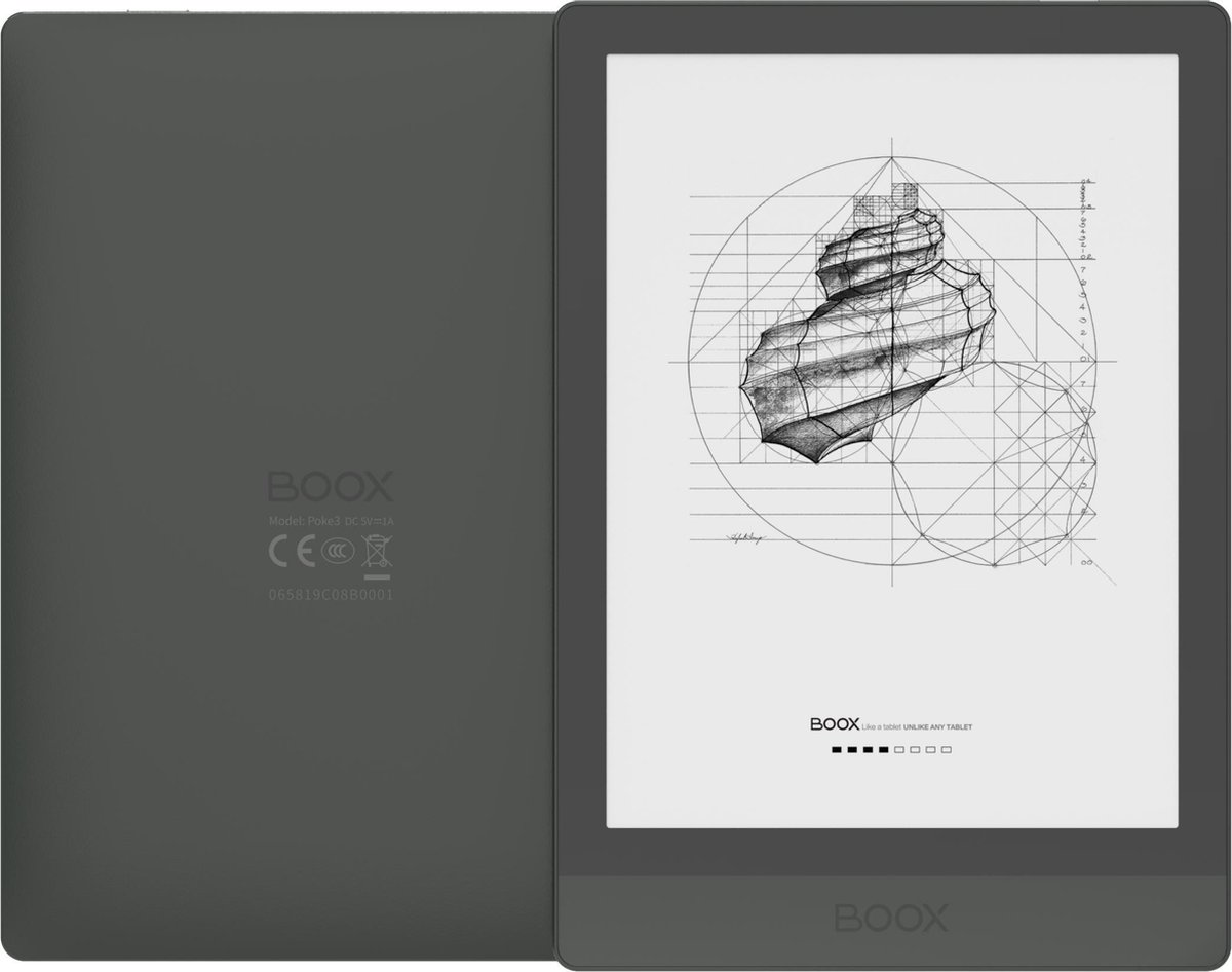 """Onyx Boox Poke 3 E-inkt e-reader 6"""", Android 10, Playstore, 300 DPI, warm/koudlicht"""
