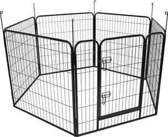 hondenkennel Zecta zwart 162x140x80CM