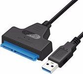 SATA III naar USB 3.0 kabel Adapter / 2.5 inch HDD en SSD Harde Schijf Compatible / Tot 6 Gbps Overdrachtssnelheid / Zwart
