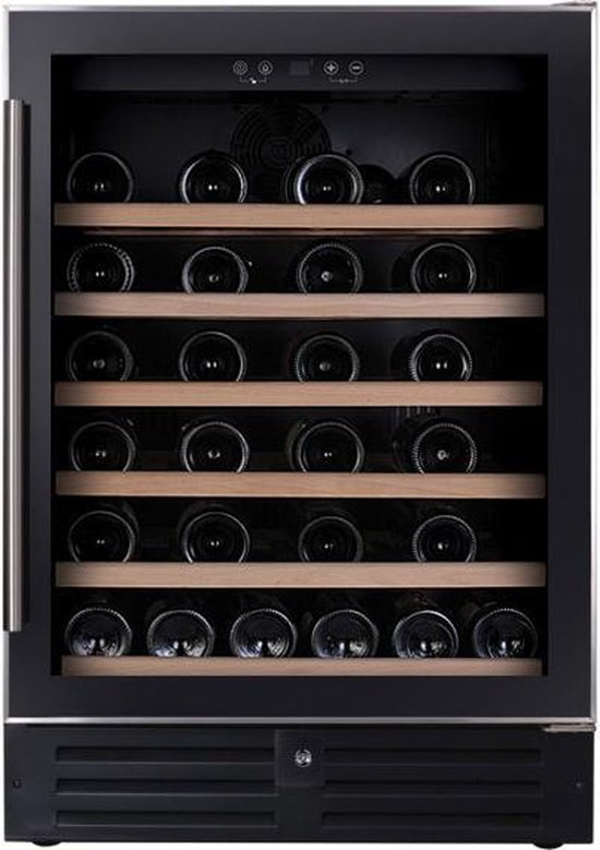 Koelkast: Temptech VWCR46SB - inbouwwijnkoelkast - inhoud 46 Flessen - zwart, van het merk Temptech