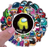 Among us - Among us stickers - 50 stuks - Stickers - Among us plushie - Among us knuffel - Among us game