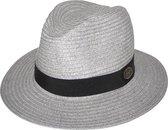 Phoenix Panama UV-werende Zonnehoed - Dames & Heren - UPF50+ Maat: 58cm - Kleur: Licht Grijs
